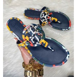 Like new MILLER Color  mosaic SANDAL, LEATHER